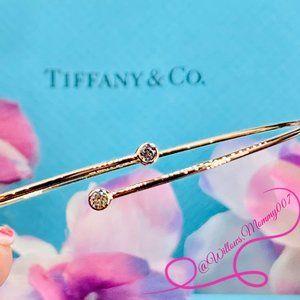 NWOT Tiffany & Co Elsa Peretti Diamond Hoop Bangle